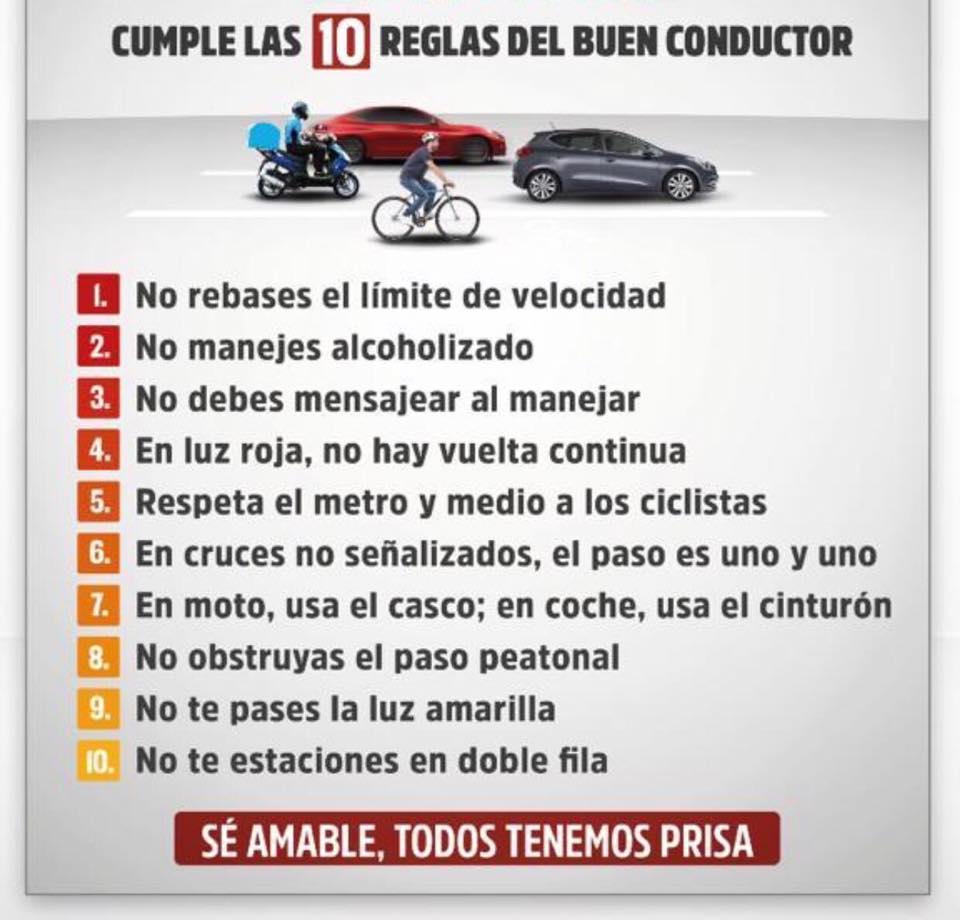 10 REGLAS DEL BUEN CONDUCTOR.