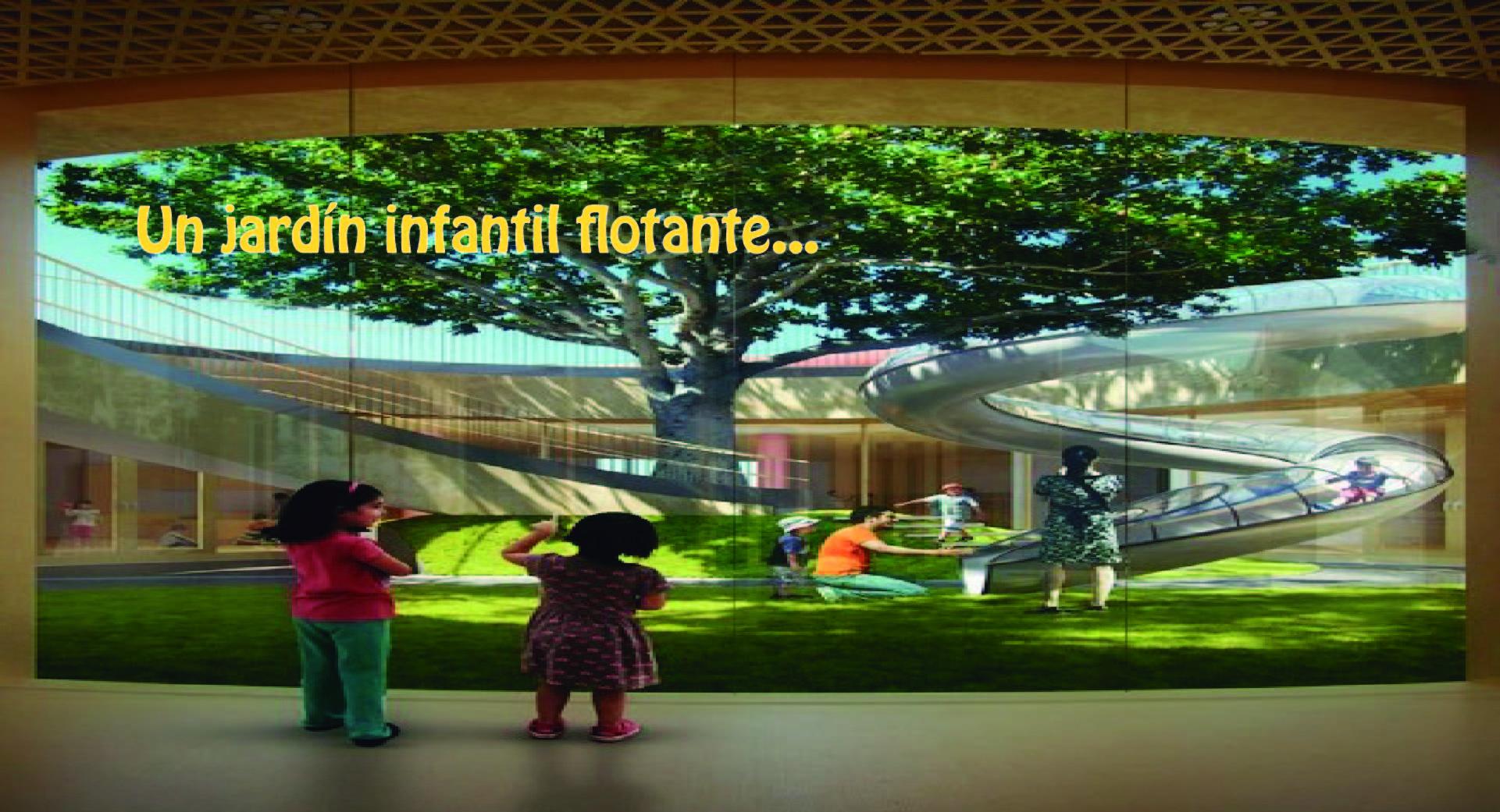 MAD Architects comienza construcción de jardín infantil flotante sobre un patio histórico en Beijing